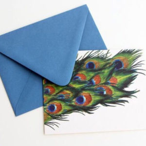 Peacock Folded Notes